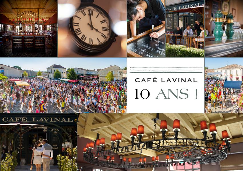 Anniversaire 10 ans du Café Lavinal (village de Bages, Pauillac, France)